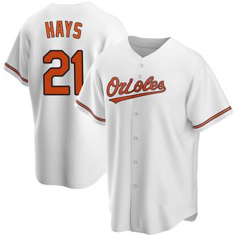 Men's Austin Hays Baltimore White Replica Home Baseball Jersey (Unsigned No Brands/Logos)