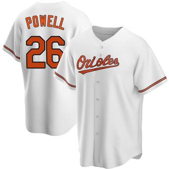 Men's Boog Powell Baltimore White Replica Home Baseball Jersey (Unsigned No Brands/Logos)