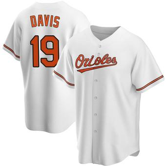 Men's Chris Davis Baltimore White Replica Home Baseball Jersey (Unsigned No Brands/Logos)