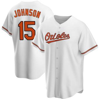 Men's Davey Johnson Baltimore White Replica Home Baseball Jersey (Unsigned No Brands/Logos)