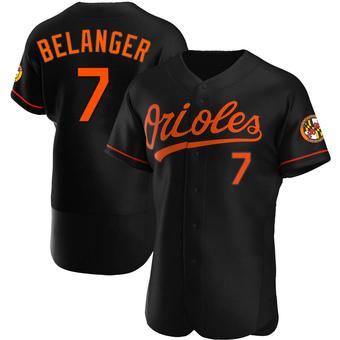 Men's Mark Belanger Baltimore Black Authentic Alternate Baseball Jersey (Unsigned No Brands/Logos)
