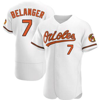 Men's Mark Belanger Baltimore White Authentic Home Baseball Jersey (Unsigned No Brands/Logos)