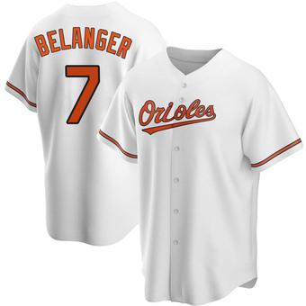 Men's Mark Belanger Baltimore White Replica Home Baseball Jersey (Unsigned No Brands/Logos)