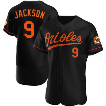 Men's Reggie Jackson Baltimore Black Authentic Alternate Baseball Jersey (Unsigned No Brands/Logos)