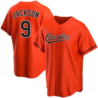 Men's Reggie Jackson Baltimore Orange Replica Alternate Baseball Jersey (Unsigned No Brands/Logos)