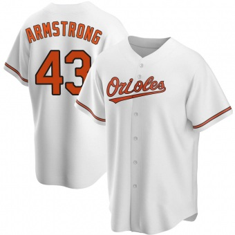 Men's Shawn Armstrong Baltimore White Replica Home Baseball Jersey (Unsigned No Brands/Logos)