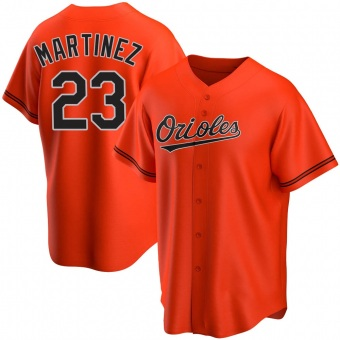 Men's Tippy Martinez Baltimore Orange Replica Alternate Baseball Jersey (Unsigned No Brands/Logos)