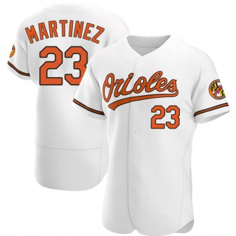 Men's Tippy Martinez Baltimore White Authentic Home Baseball Jersey (Unsigned No Brands/Logos)