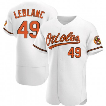 Men's Wade LeBlanc Baltimore White Authentic Home Baseball Jersey (Unsigned No Brands/Logos)