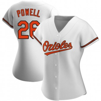 Women's Boog Powell Baltimore White Authentic Home Baseball Jersey (Unsigned No Brands/Logos)