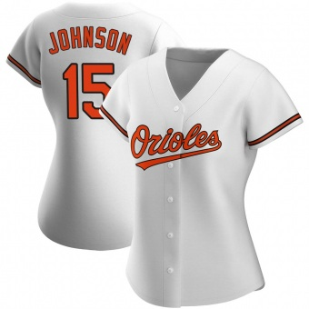 Women's Davey Johnson Baltimore White Authentic Home Baseball Jersey (Unsigned No Brands/Logos)