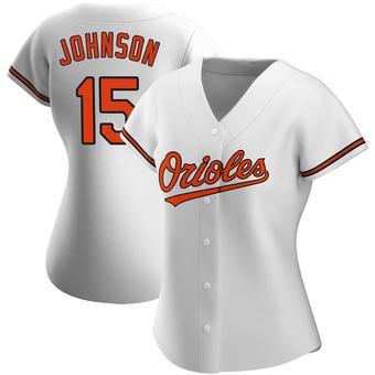 Women's Davey Johnson Baltimore White Replica Home Baseball Jersey (Unsigned No Brands/Logos)