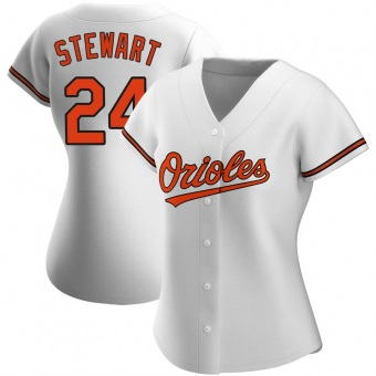 Women's DJ Stewart Baltimore White Replica Home Baseball Jersey (Unsigned No Brands/Logos)