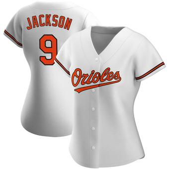 Women's Reggie Jackson Baltimore White Replica Home Baseball Jersey (Unsigned No Brands/Logos)