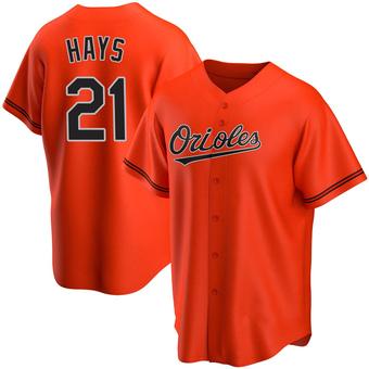 Youth Austin Hays Baltimore Orange Replica Alternate Baseball Jersey (Unsigned No Brands/Logos)