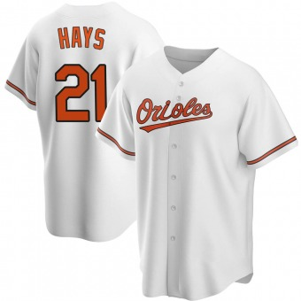 Youth Austin Hays Baltimore White Replica Home Baseball Jersey (Unsigned No Brands/Logos)