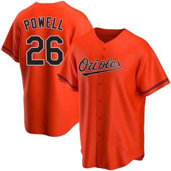 Youth Boog Powell Baltimore Orange Replica Alternate Baseball Jersey (Unsigned No Brands/Logos)