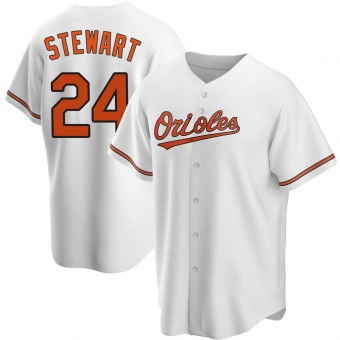 Youth DJ Stewart Baltimore White Replica Home Baseball Jersey (Unsigned No Brands/Logos)