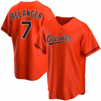 Youth Mark Belanger Baltimore Orange Replica Alternate Baseball Jersey (Unsigned No Brands/Logos)
