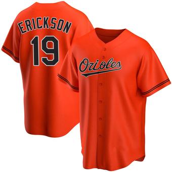 Youth Scott Erickson Baltimore Orange Replica Alternate Baseball Jersey (Unsigned No Brands/Logos)
