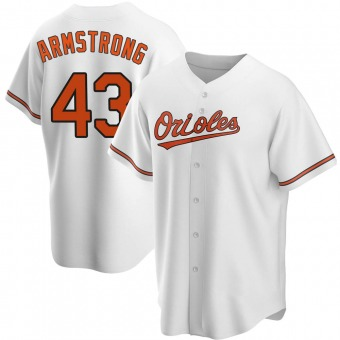Youth Shawn Armstrong Baltimore White Replica Home Baseball Jersey (Unsigned No Brands/Logos)