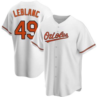Youth Wade LeBlanc Baltimore White Replica Home Baseball Jersey (Unsigned No Brands/Logos)